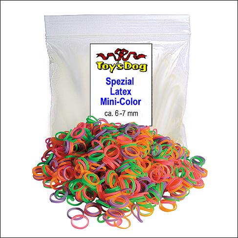 Mini-Gummis »Mini Color« aus Latex - farblich sortiert