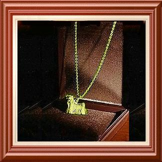 Yorkie-Anhänger »Beauty« - Gold 333