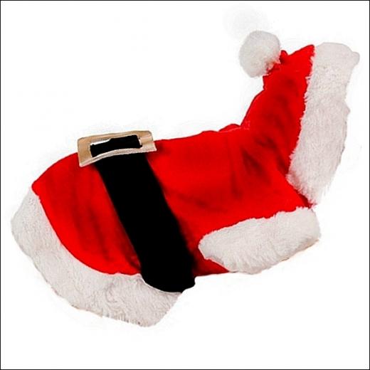 Yorkie-Weihnachtskostüm »Santa Claus«