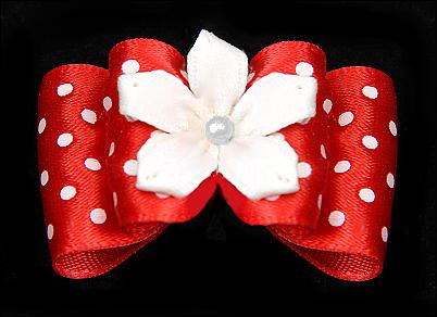 Satin-Haarspange »White Flower«