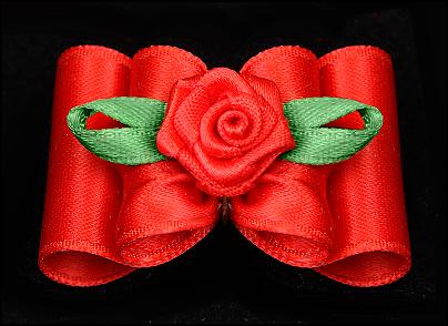 Satin-Haarspange »Rose« Exclusiv