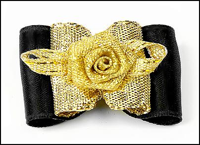 Satin-Haarspange »Gold-Rose Exclusiv« Black