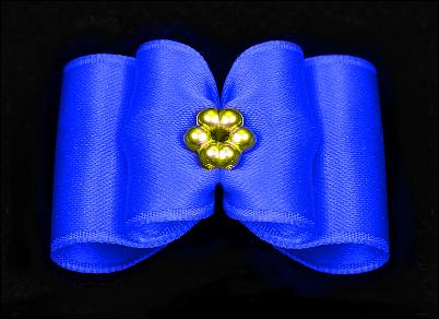 Satin-Haarspange »Perla Blue«