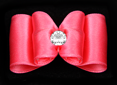 Satin-Haarspange »Hot Pink«