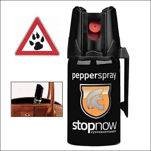 Zu Ihrem Schutz: Pfefferspray