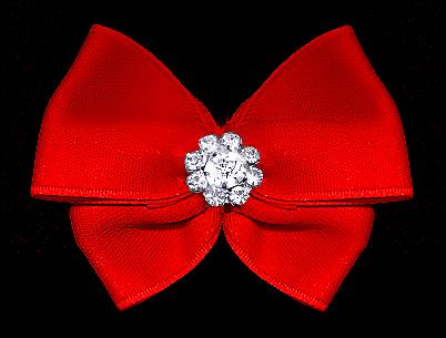 Satin-Haarspange »Trophy Red«