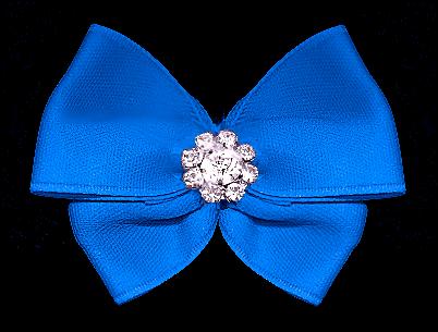 Satin-Haarspange »Trophy Blue«