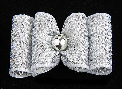 Stoffschleife »Silber«