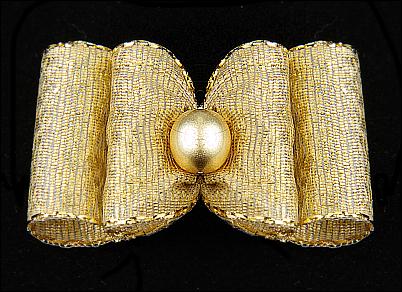 Stoffschleife »Gold«