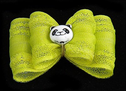 Stoffschleife »Panda«