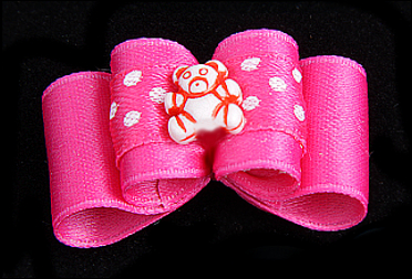 Baby & Youngster-Schleife »Bärchen Pink«