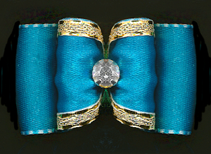 Satin-Haarspange »Türkis-Blue«