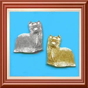 Yorkie-Brosche »Precious« - Silber oder Gold