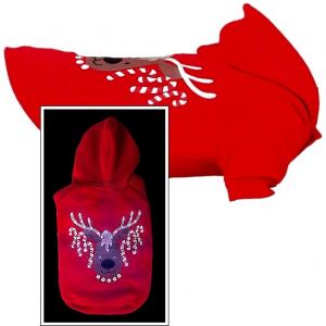 Yorkies Weihnachts Hoodie (Pulli) »Elch«