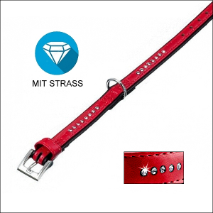 Strass-Halsband »Fashion« - ROT