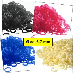 Mini-Gummis »Mini Color« aus Latex - Sets in jeweils einer Farbe