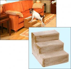 Kleinhunde-»Sofa-Treppchen« - Beige