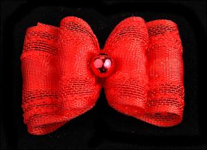 Stoffschleife »Toskana Red«