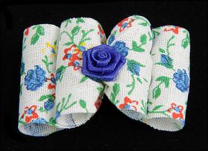 Stoffschleife »Blue Roses«