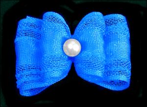 Stoffschleife »Toskana Blue«