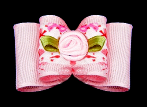Stoffschleife »Pink Roses«