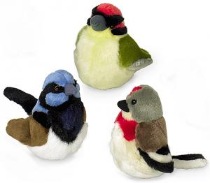 Plüsch-Vögelchen mit Vogelstimme