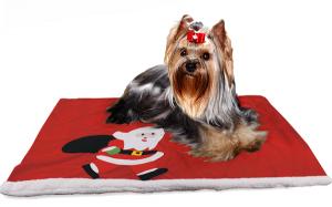 Etwas Besonderes zum Fest: Yorkie-Weihnachtsdecke